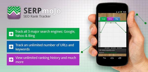 Ревю на SERP Mojo – приложение за Android, което следи позициите на вашите сайтове