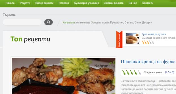 Ревю на Nahrani.me – кулинарни рецепти!